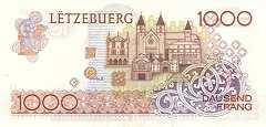 Люксембург: 1000 франков (1986 г.)