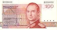 Люксембург: 100 франков (1986 г.)