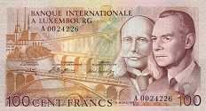 Люксембург: 100 франков 1981 г.