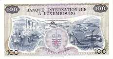 Люксембург: 100 франков 1968 г.