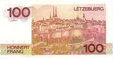 Люксембург: 100 франков 1980 г.