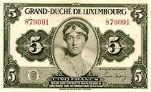 Люксембург: 5 франков (1944 г.)