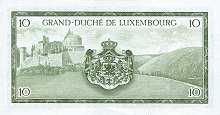 Люксембург: 10 франков (1954 г.)