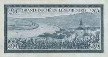 Люксембург: 20 франков (1955 г.)