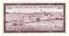 Люксембург: 50 франков 1961 г.