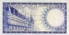 Люксембург: 500 франков (1963 г.)