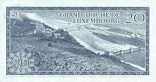 Люксембург: 20 франков 1966 г.
