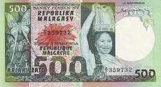Мадагаскар: 500 франков (1974 г.)