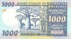 Мадагаскар: 1000 франков (1974 г.)