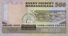 Мадагаскар: 500 франков (1988 г.)
