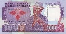 Мадагаскар: 1000 франков (1988 г.)