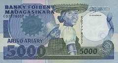 Мадагаскар: 5000 франков (1988 г.)