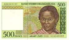 Мадагаскар: 500 франков (1994 г.)