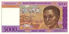 Мадагаскар: 5000 франков (1994 г.)