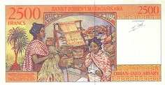 Мадагаскар: 2500 франков (1994 г.)