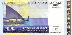 Мадагаскар: 5000 ариари (2004 г.)