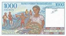 Мадагаскар: 1000 франков (1994 г.)