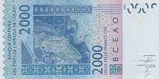 Мали: 2000 франков CFA-BCEAO 2003-16 г.