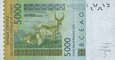 Мали: 5000 франков CFA-BCEAO 2003-16 г.