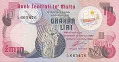 Мальта: 10 лир (1979 г.)