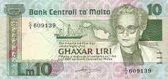 Мальта: 10 лир (1986 г.)