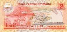Мальта: 2 лиры (1986 г.)