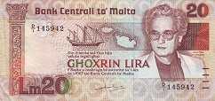 Мальта: 20 лир (1986 г.)