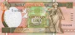 Мальта: 20 лир (1994 г.)