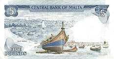 Мальта: 5 лир (1973 г.)