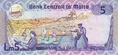 Мальта: 5 лир (1986 г.)