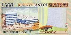 Малави: 500 квачей 2001 г.