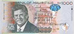 Маврикий: 1000 рупий 2010-17 г.