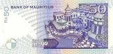 Маврикий: 50 рупий 1998 г.