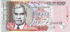 Маврикий: 100 рупий 1999-2012 г.