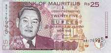 Маврикий: 25 рупий 1999-2009 г.