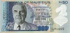 Маврикий: 50 рупий 2013 г.