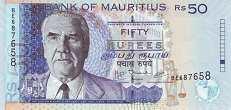 Маврикий: 50 рупий 1999-2009 г.