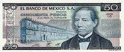 Мексика: 50 песо 1973-81 г.