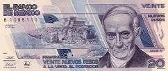 Мексика: 20 песо 1992 г.