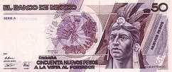 Мексика: 50 песо 1992 г.