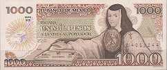 Мексика: 1000 песо 1984-85 г.