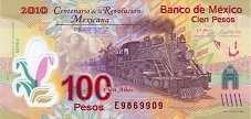 Мексика: 100 песо (юбилейная) 2007 г.