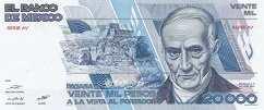 Мексика: 20000 песо 1985-87 г.