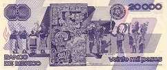 Мексика: 20000 песо 1988-89 г.