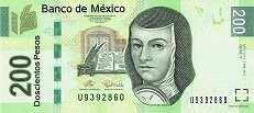 Мексика: 200 песо 2007-14 г.