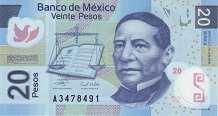 Мексика: 20 песо 2006-16 г.