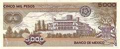 Мексика: 5000 песо 1985-89 г.