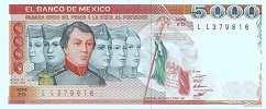 Мексика: 5000 песо 1981-85 г.