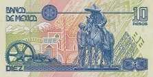 Мексика: 10 песо 1994-96 г.