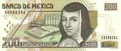 Мексика: 200 песо 2000-04 г.